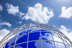 Blue Earth Planet Royalty Free Stock Photos