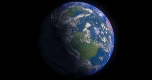 Blue Earth. The rendered style is a take on a bit of science fiction and hyper-realism Stock Photos