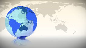 Blue Earth spinning on itself stock footage