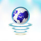 Blue Earth suspended Royalty Free Stock Photo