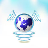 Blue Earth suspended Royalty Free Stock Photos