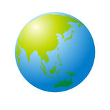 Blue earth, vector Royalty Free Stock Images