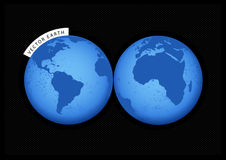 Blue Earth. Vector art Royalty Free Stock Photos