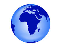 Blue Earth On White Royalty Free Stock Images