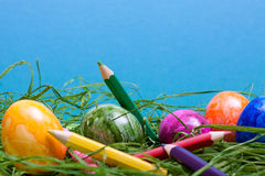 Blue easter background Royalty Free Stock Images