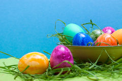 Blue easter background Stock Photo