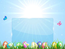 Blue Easter banner Stock Images