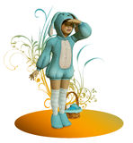 Blue Easter Bunny Stock Photography