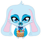 Blue Easter bunny Stock Images