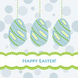 Blue easter card Royalty Free Stock Photography