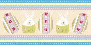 Blue easter card Stock Images