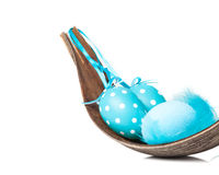Blue easter decoration, palm leaf Stock Photography