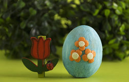 Blue  easter egg Royalty Free Stock Images