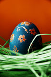 Blue Easter egg Royalty Free Stock Photos