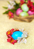 Blue easter egg Stock Photos
