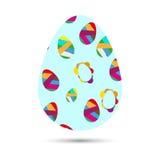Blue Easter egg. Design Easter postcards royalty free illustration