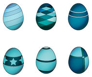 Blue easter eggs Royalty Free Stock Photography
