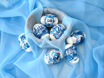 Blue easter eggs Stock Image