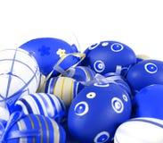 Blue Easter eggs stock photo