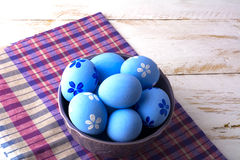 Blue Easter eggs Stock Photography