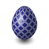 Easter egg. Blue and white. Blue and white colored Easter egg Royalty Free Stock Images