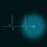Blue ECG Stock Photography