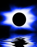 Blue eclipse Royalty Free Stock Photo