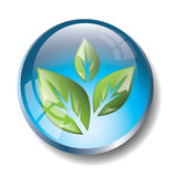 Blue eco badge Royalty Free Stock Photo