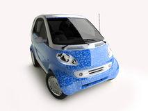 Blue eco car Stock Images