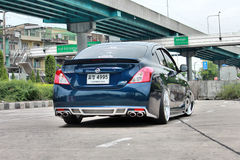 Blue ECO Car Sedan in VIP Style Royalty Free Stock Photos
