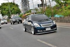 Blue ECO Car Sedan in VIP Style Stock Photos