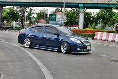 Blue ECO Car Sedan in VIP Style Royalty Free Stock Photography