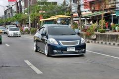 Blue ECO Car Sedan in VIP Style Royalty Free Stock Image
