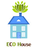 Blue eco house Stock Images