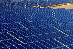 Blue eco photovoltaic power plant Stock Photography