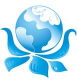 Blue Ecology Logo 1 Royalty Free Stock Photos