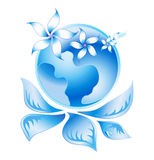 Blue Ecology Logo 2 Royalty Free Stock Image