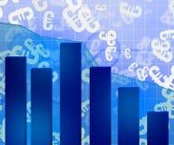 Blue Economic Background Royalty Free Stock Photography