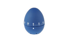 Blue egg timer countdown for boiled eggs. Kitchen clock royalty free stock photography