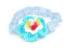 Blue elastic headband Stock Images