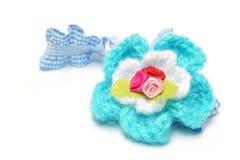 Blue elastic headband Royalty Free Stock Images