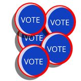Blue Campaign Voting Pins vector illustration
