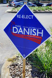A blue Election vote sign  Royalty Free Stock Photography
