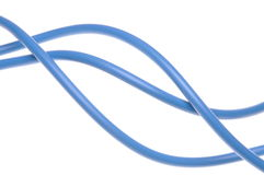 Blue electric cable used in electrical instalation Royalty Free Stock Image