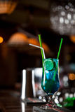 Blue electric cocktail Stock Photos