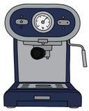 The blue electric espresso maker. The vectorized hand drawing of a blue electric espresso maker vector illustration