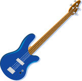 Blue Electric Guitar Stock Image