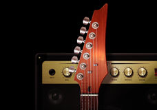 blue electric guitar Στοκ Εικόνες
