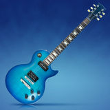 Blue Electric Guitar Royalty Free Stock Photo