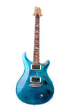 Blue electric guitar isolated Stock Image